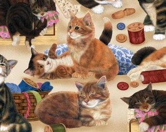 Sew Curious Cats - Willmington Prints - Fat Quarter