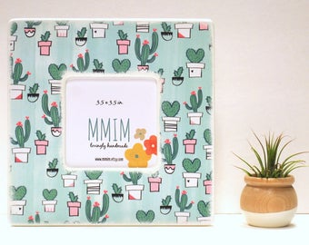 Love My Cactus Picture Frame,  Instagram Frame, Wood Frame, Unique Frames, Handmade Gifts, Unisex, Wooden Photo Frame, Succulent, cactus