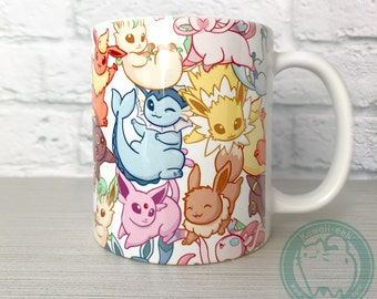 Pokemon Eevee Eeveelution Mug