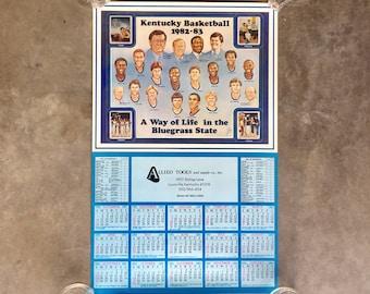 Vintage 1982-83 Kentucky Wildcats Calendar Poster