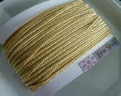 CUSTOM ORDER Moroccan very narrow braid, antique gold and gold buttons