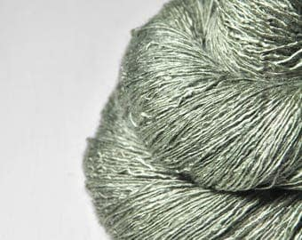 Wet hay OOAK - Tussah Silk Lace Yarn