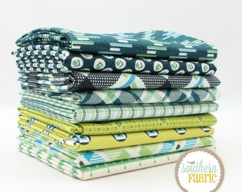 "Franklin - Fat Quarter  Bundle - 9 - 18""x21"" Cuts - by Denyse Schmidt - Westminster Quilt Fabric"