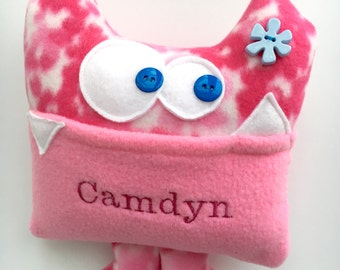 Personalized plush gift for kids, Personalized Tooth Fairy Pillow - Tooth Fairy Pillow - Tooth Chart - Kids Monster Plush- Tooth Fairy