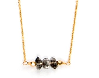 BEST SELLER! Herkimer Diamond Choker Trio Necklace