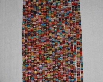 Zircon, Multicolor Zircon, Zircon Heishi, Smooth Heishi, Natural Stone, Heishi Bead, Multicolor Heishi, Full Strand, 5 mm, AdrianasBeads