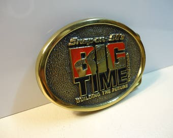 Snap On Tools 90s BIG TIME Solid Brass Belt Buckle