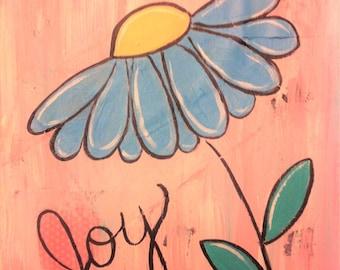 Blue Daisy Joy