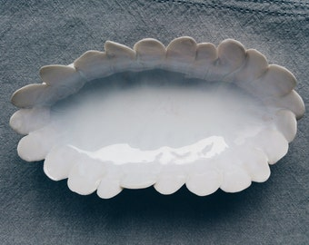 CLOUD FLOWER - Handmade porcelain dish, one of a kind.
