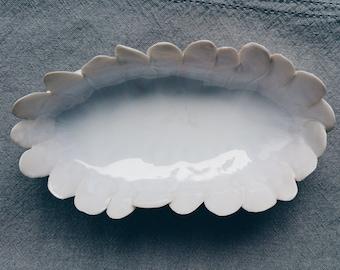 CLOUD FLOWER - Handmade porcelain dish, one of a kind.
