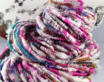 Handspun Art Yarn Corespun Sheeping Beauties 'In Parties'