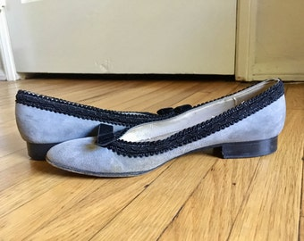 Gray and Black Flats size 5.5 - 6