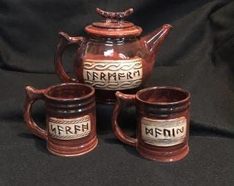 Customized Rune Name mug, Futhorc, Futhark, Old English, Anglo Saxon, Viking, Dwarf