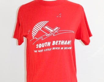 Red and White South Bethany Delaware T-Shirt