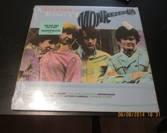 The Monkees vinyl  Still Sealed - The Best of the Monkees Then and Now - Still Sealed Original - Vintage Record lp in Mint Condition.