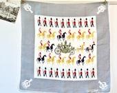Vintage Tammis Keefe Linen Golden Coach Handkerchief - Elizabeth ll Coronation Commemorative