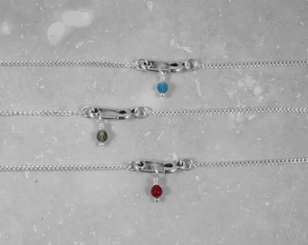Safe Space Necklace, LGBTQ, safe ally, symbol of hope and freedom, causes, giving back, Safety Pin Solidarity Necklace, Safety Pin,