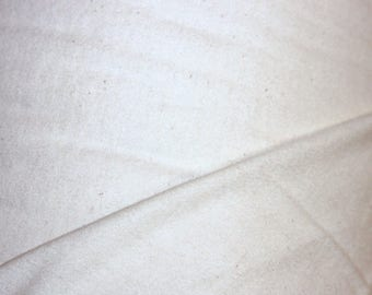 1.25 Yards Organic Unbleached Flannel Fabric 60 inches wide