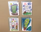 Greeting Card 4 pack - FREE DOMESTIC SHIPPING