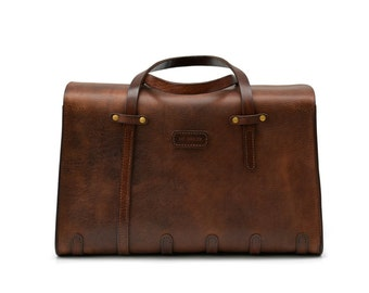 Flight Bag // Leather cabin bag // Carry-on luggage