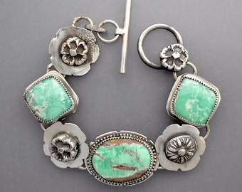 Variscite with Flowers 2