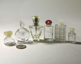 Vintage Lot of Small Perfume Bottles, Perfume Bottles - circa 1960
