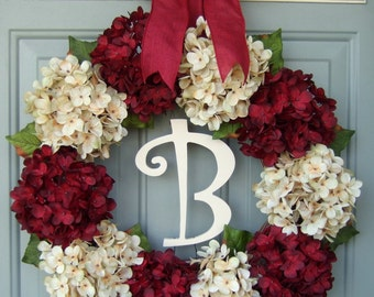Christmas Wreath - Wreath for Christmas - Monogram Christmas Wreath