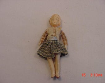 Vintage Miniature Celluloid Doll  17 - 497