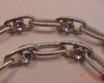 Vintage Ann Taylor Crystal  Adjustable Necklace  17 - 609
