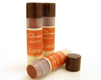Tinted lip balm, Coral, Natural Lip Balm, Lip Color, Sheer Lip Tint, Lip Tint, Lip Balm, Colored Lip Balm, Shea Lip Balm, Beeswax Lip Balm