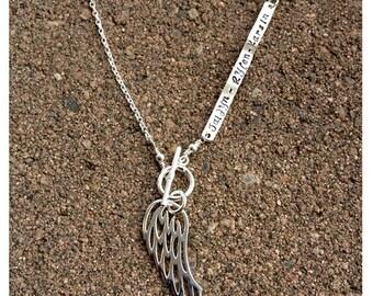 20% OFF - Custom Enscribed Secret Message Necklace