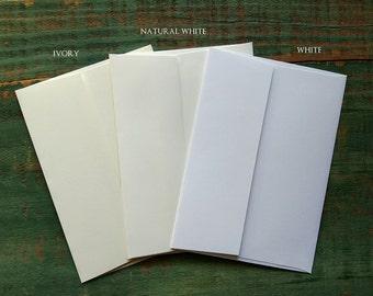 "100 A7 Envelopes: Recycled envelopes, Eco-Friendly Envelopes, 5 1/4"" x 7 1/4"" (13.3 cm x 18.4 cm), white, natural white or ivory"