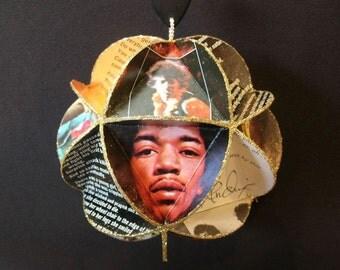 Jimi Hendrix Album Cover Ornament Made Of Repurposed Record Jackets