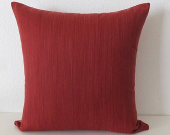 Solid Red Tones Pillow Cover
