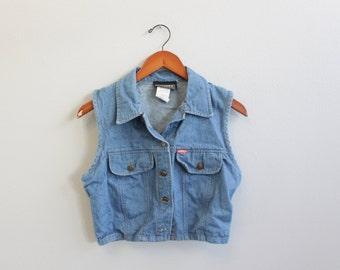 Vintage Crop Jean Vest By Tickets California