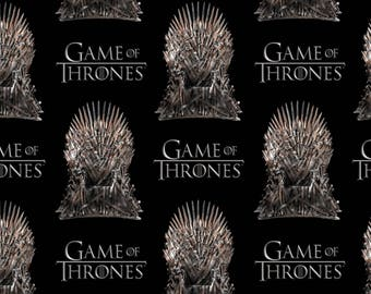 Preorder Game of Thrones Cotton Quilt Fabric by The Yard, The Iron Throne Black Ships July 2017