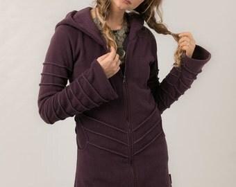 Hooded Fleece Winter Coat - Magic Goddess Pixie Fleece -  Travel Wear - Bohemian Winter Coat -Jacket