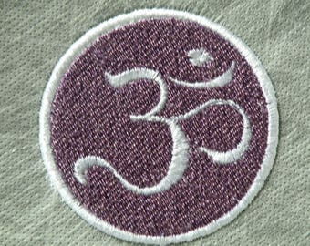 Small Aum Iron on Patch 2.5""