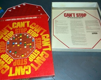 1980 Can't Stop Parker Brothers Game How Far Can You Push your Luck? Complete