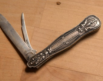 Ladies Sterling Silver or Gent's Fruit knife 1880s Gorham Silver