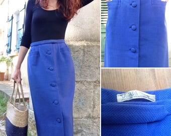 TAGADA 1950s french blue midi skirt