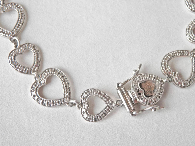 heart bracelet sterling silver sterling heart link bracelet. Black Bedroom Furniture Sets. Home Design Ideas