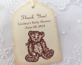 Teddy Bear Tags Favor Tags Neutral Boy or Girl Set of 10
