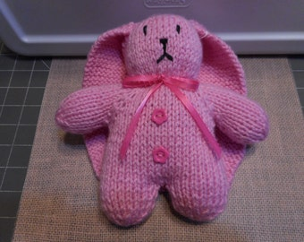 Pink Bunny, Luxury Lop Eared Bunny , Pink Easter Bunny, Child's Bunny Toy,