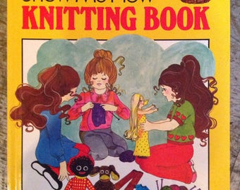 Vintage 1973 My First Show Me How Knitting Book Judith Dine