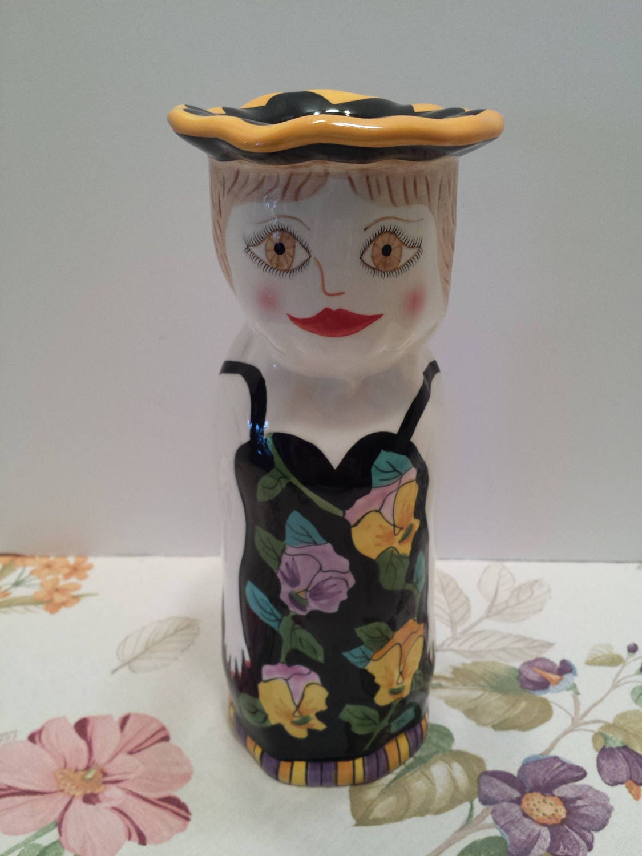 lady vase by susan paley artist bella casa vase by ganz and. Black Bedroom Furniture Sets. Home Design Ideas