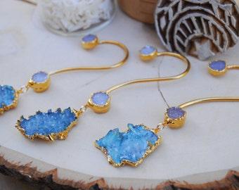 AQUA AURA EARCUFF /// Bohemian Ear Cuff, Electroformed Jewelry, Aqua Aura