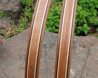 Wood Bike Fenders- Woody's hand made bicycle fenders.  Bike fenders.  Mud guards, Bamboo, Boo, recycle, bike, bike add on, commuter bike