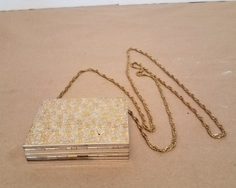 Vintage Brass Carry All Compact Purse
