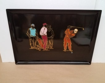 Vintage Large Couroc Tray